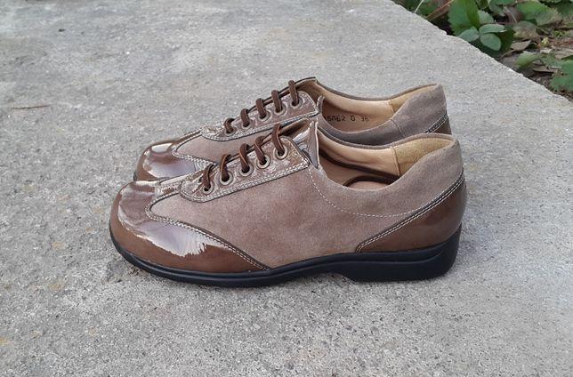 Кожаные ботинки туфли Ladysko 36 р.