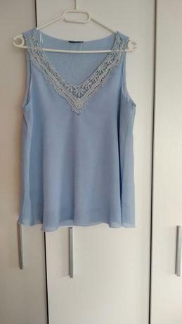 Koszulka bluzka mgiełka niebieska idealna na lato