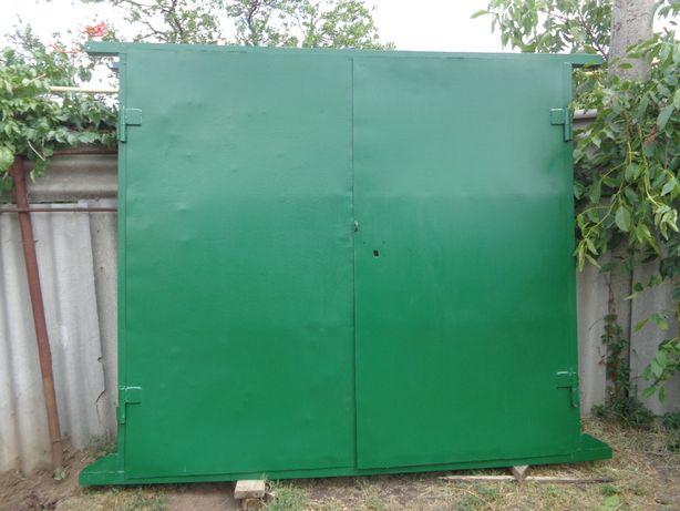 Гаражные ворота (высокие) с усиленной коробкой