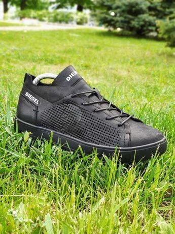 Diesel (Дизель) летние мужские кожаные кеды,кроссовки,мокасины