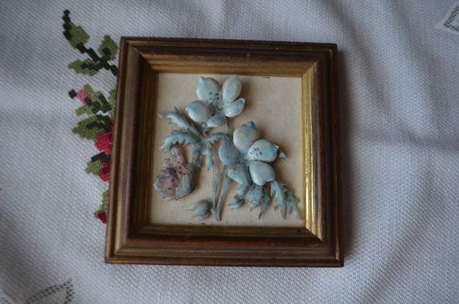 Obrazek bibelot decoupage kwiaty