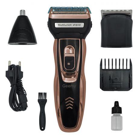 Машинка для стрижки волос 3в1 Gemei GM 595, триммер для бороді носа