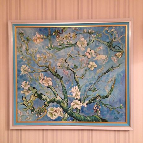 Картина по мотивам Ван Гога «Цветущие ветки миндаля»