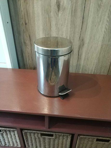 Kosz Srebrny, na śmieci, koszyk, łazienkowy, kuchenny