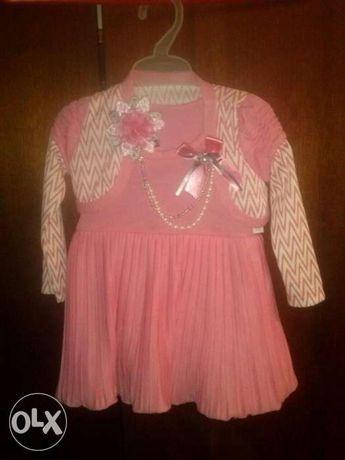 Нарядное платье для девочки до года