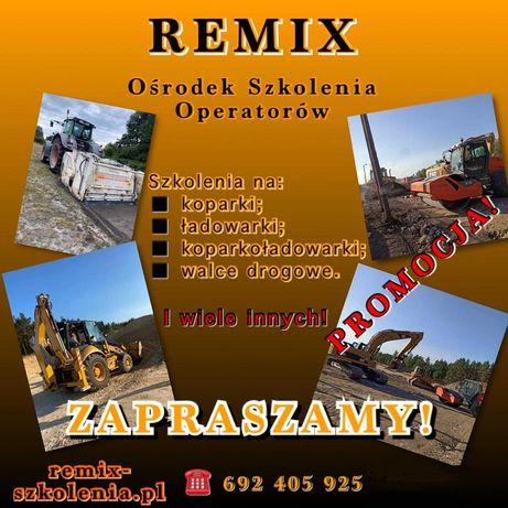 Kurs na koparki, ładowarki, koparkoładowarki! PROMOCJA START 26.09