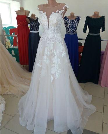 Свадебное платье/весільна сукня/айвори/ свадебное платье со шлейфом