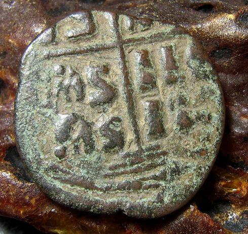 Монета Византии. Византийский Фолис.