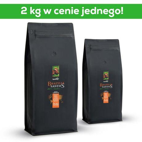 TOMMY CAFE kawa ziarnista Brazylia Santos 1kg+1kg gratis!
