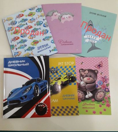 Яркие школьные дневники на русском языке.