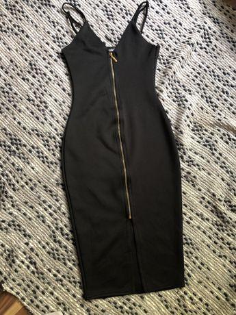 Missguided sukienka XS czarna ołówkowa