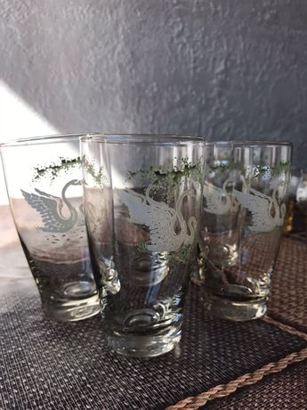 Склянки набір із 5 шт із красивим малюнком