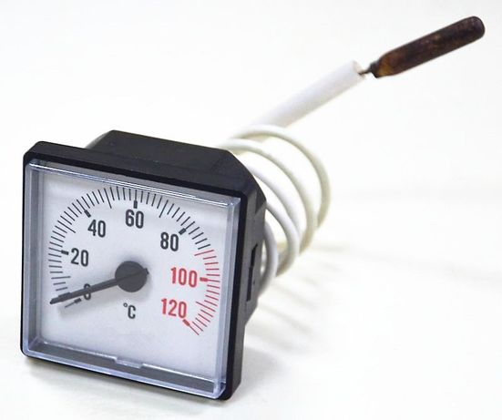 Термометр квадратный капиллярный 45х45 мм