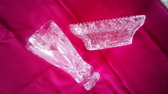 Хрустальные ладья и ваза