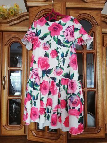 Śliczna sukienka w kwiaty 146