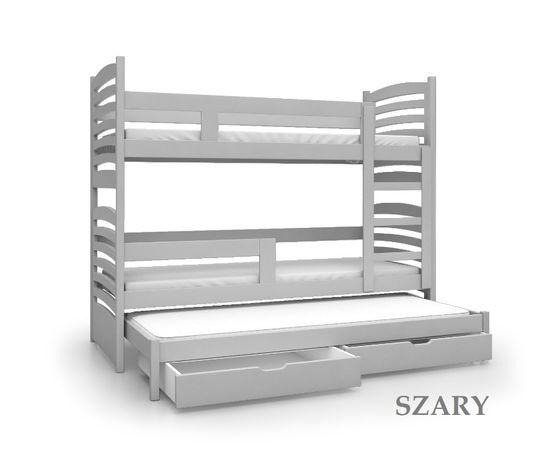 Łóżko piętrowe OLUŚ 3-osobowe w super cenie Materace + dostawa GRATIS