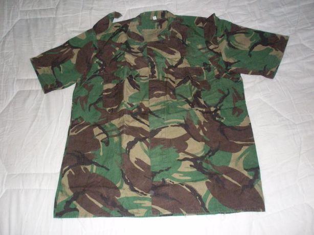 Camisa camuflada manga curta