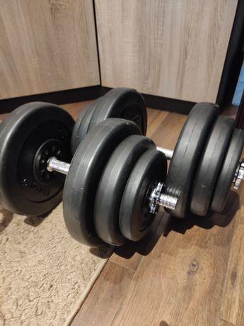 Hantle 40kg, obciążenie