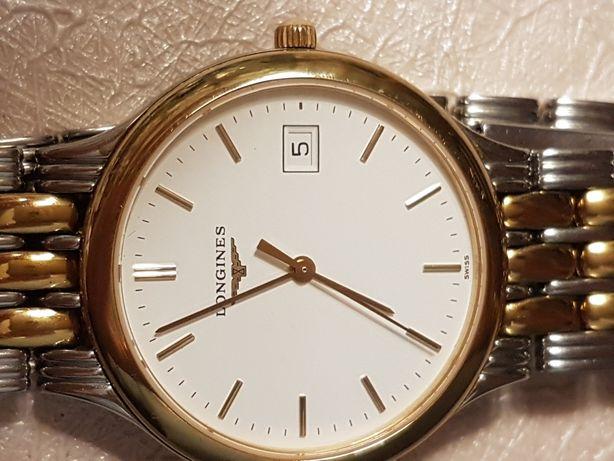 Śliczny Złocony Zegarek Longines Super stan Orginał 100% Szwajcar 100%