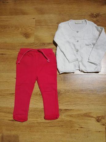 Zestaw legginsy ze sweterkiem azurowym