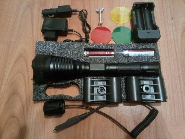 Latarka myśliwska na broń bardzo mocna 300m 3 filtry