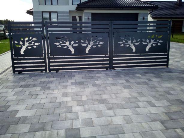 Brama z furtką kpl. ocynk ral skrzydłowa wypalana Producent ogrodzenie