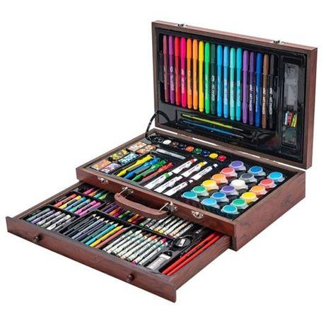 Хит! Большой набор для рисования и творчества 123 предмета в чемодане.