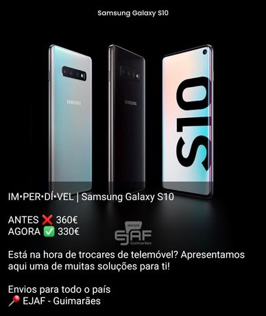 Samsung  S10 como novo, temos loja
