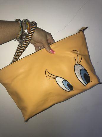 Bolsa Clutch Zara Edição Limitada Looney Tunes