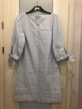 Платье H&M бело голубая полоска