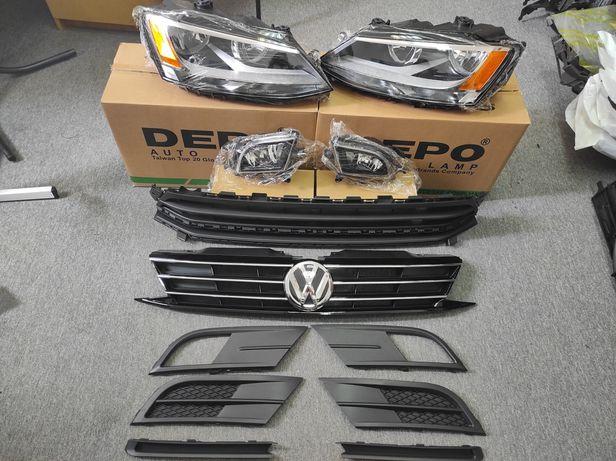 VW Jetta 6 Фара Решетки бампера Радиатора Решітки Радіатора Туманки