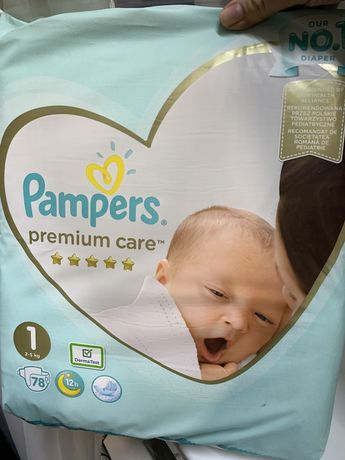 Pampers premium care 1 (78 штук)
