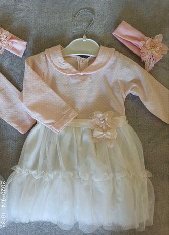 Nowa sukienka do chrztu, swiateczna, na wesele r. 62