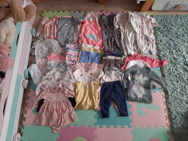Paczka, zestaw, ubrań dla dziewczynki, rozmiar 68 cm, ubranka