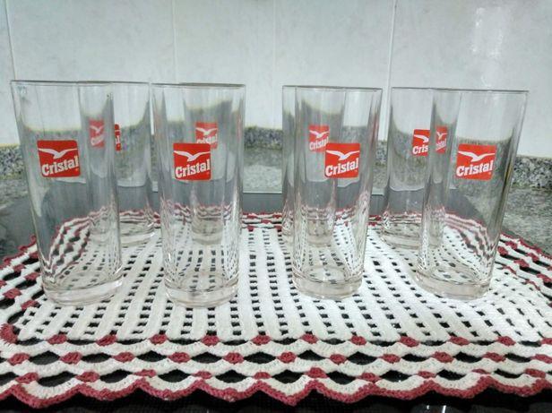 8 Copos de cerveja (marca Cristal)