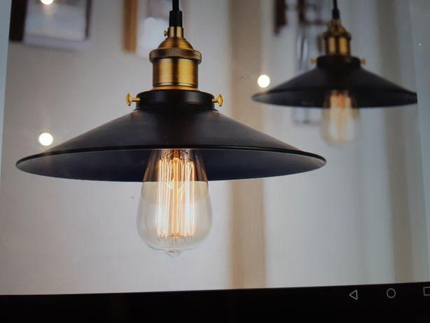 Lampa sufitowa wisząca Edison Loft Gold E27 Led