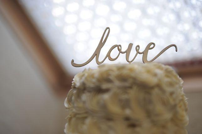 Topper na tort/ ozdoba na tort/napis LOVE