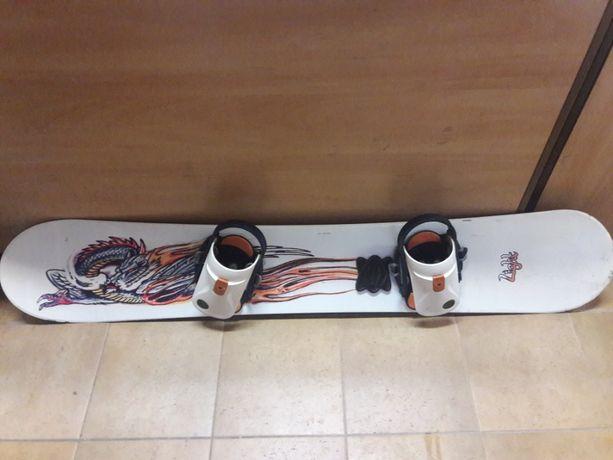 Deska snowboardowa Biała Light