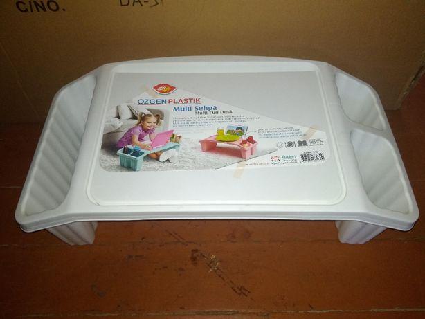 столик детский переносной на пол или кровать с карманами