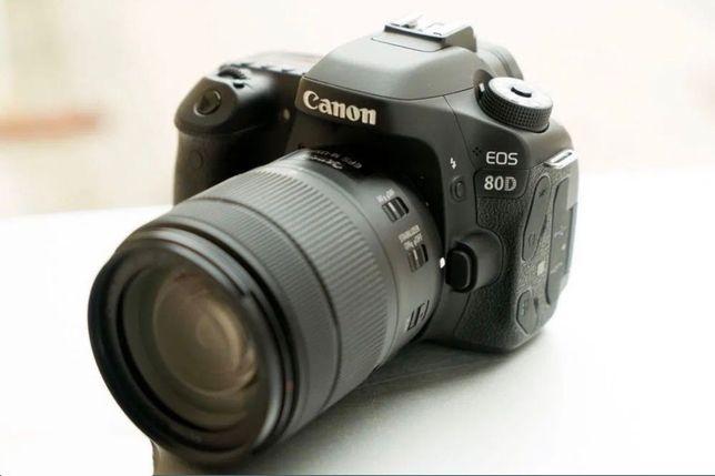 Canon EOS 80D + lente EF-S 18-200mm poucos  disparos.