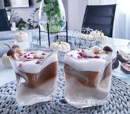 Szklanki gniecione szkło 6sztuk UNIKAT drink PREZENT formy