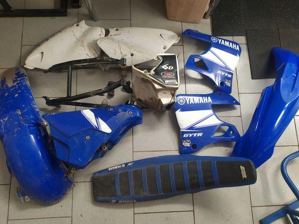 Komplet plastików Yamaha YZ125, rocznik 2001, stelaż, bak, siedzenie