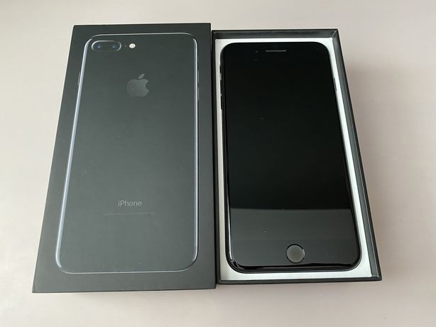 Iphone 7 plus 32 GB Jet Black + etui