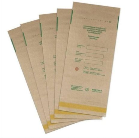 Крафт пакеты Медтест для стерилизации 100*200