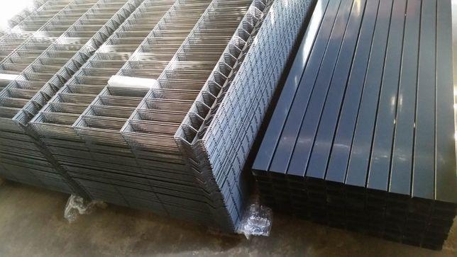 Panele ogrodzeniowe, ogrodzenie panelowe fi 4mm h 1530, słupki, obejmy