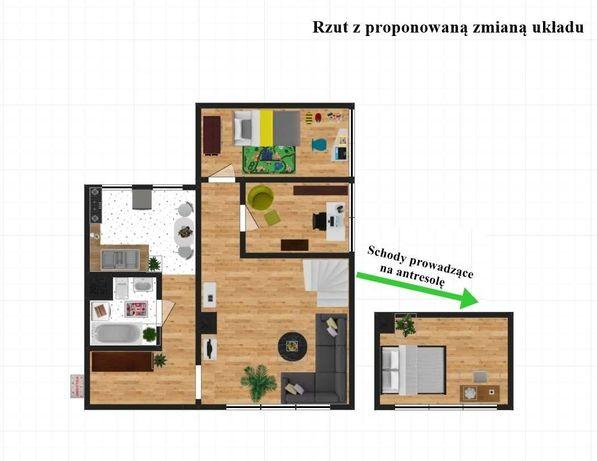 2 pokoje z potencjałem na 3 pokoje + antresola