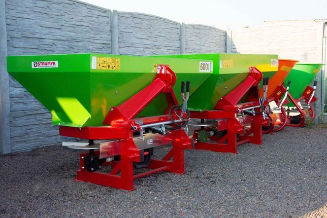 Rozsiewacz 2-talerzowy TYTAN 600L Solidna Firma STRUMYK Dowóz GRATIS