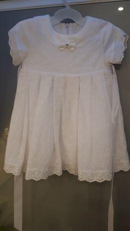 Ubranko do chrztu dla dziewczynki + buciki