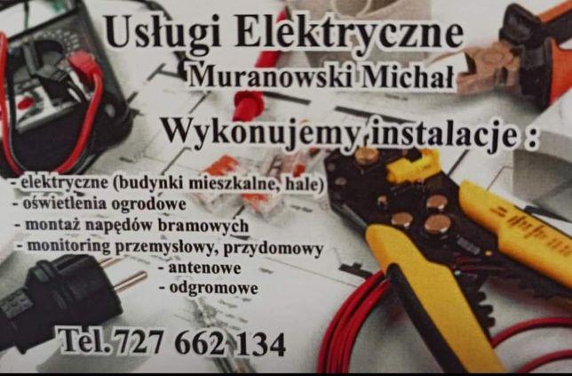Usługi elektryczne Elektryk budowlany. Monitoring.