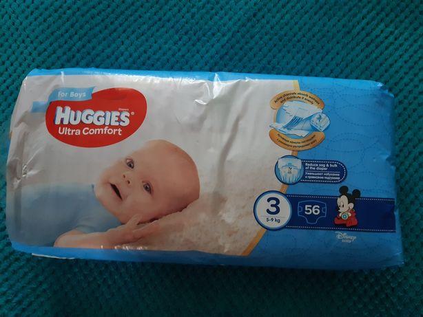 Huggies ultra comfort 3 (5-9кг) 56шт/ Хаггис ультра комфорт 3 56шт